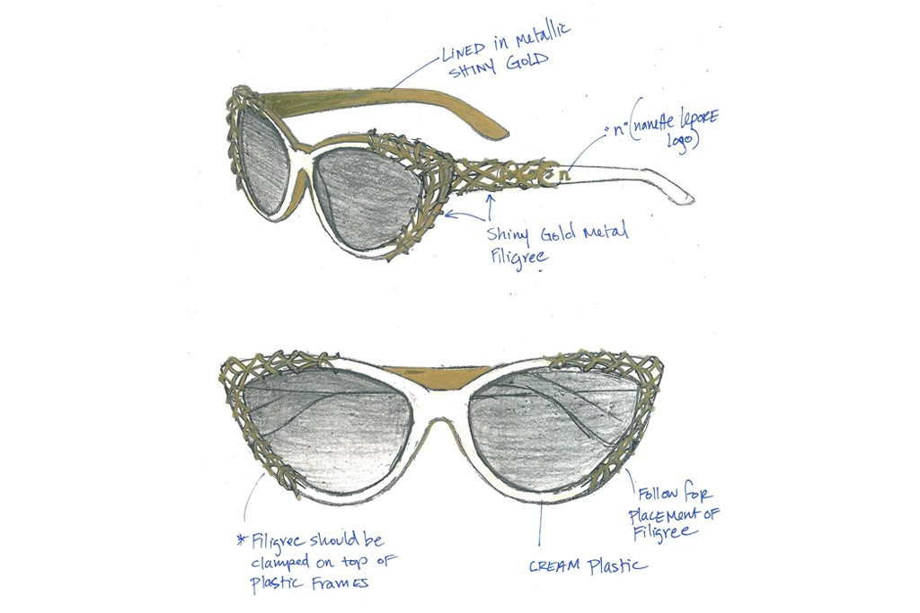 "A sketch of Nanette Lepore's ""Emma"" frames."