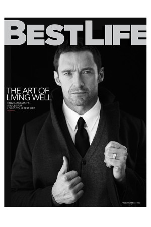 Hugh Jackman on the cover of Best Life's relaunch issue.