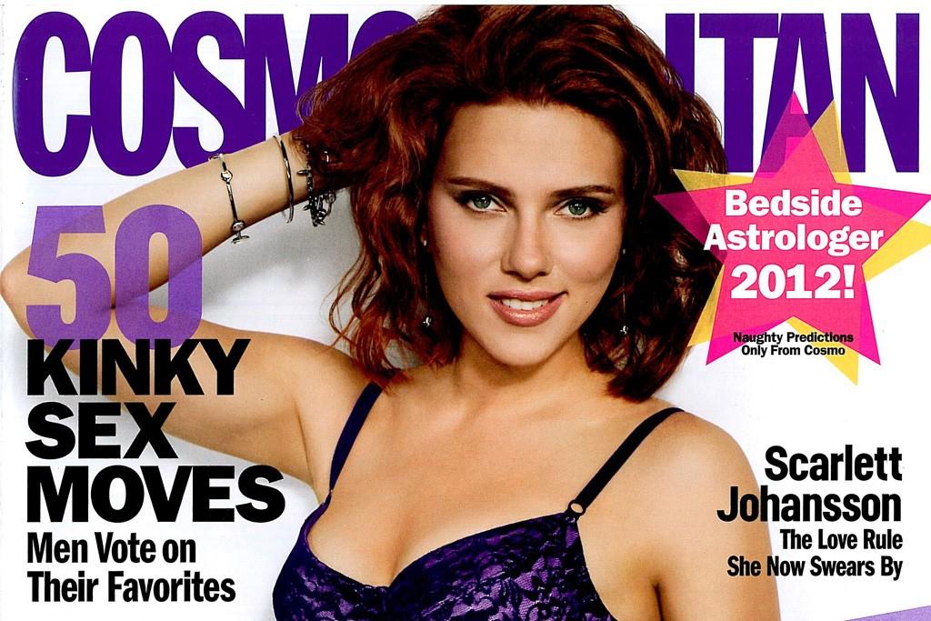 Scarlett Johansson on the cover of Cosmopolitan.