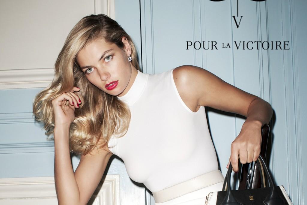A Pour La Victoire visual shot by Terry Richardson.