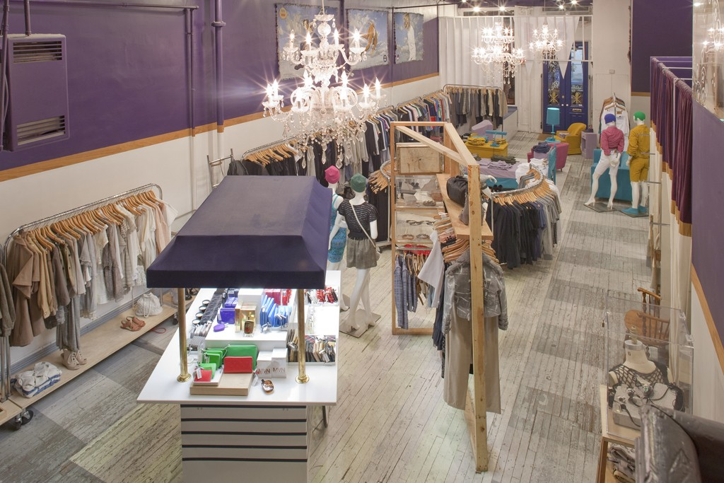Inside the first Opening Ceremony store at 35 Howard Street.