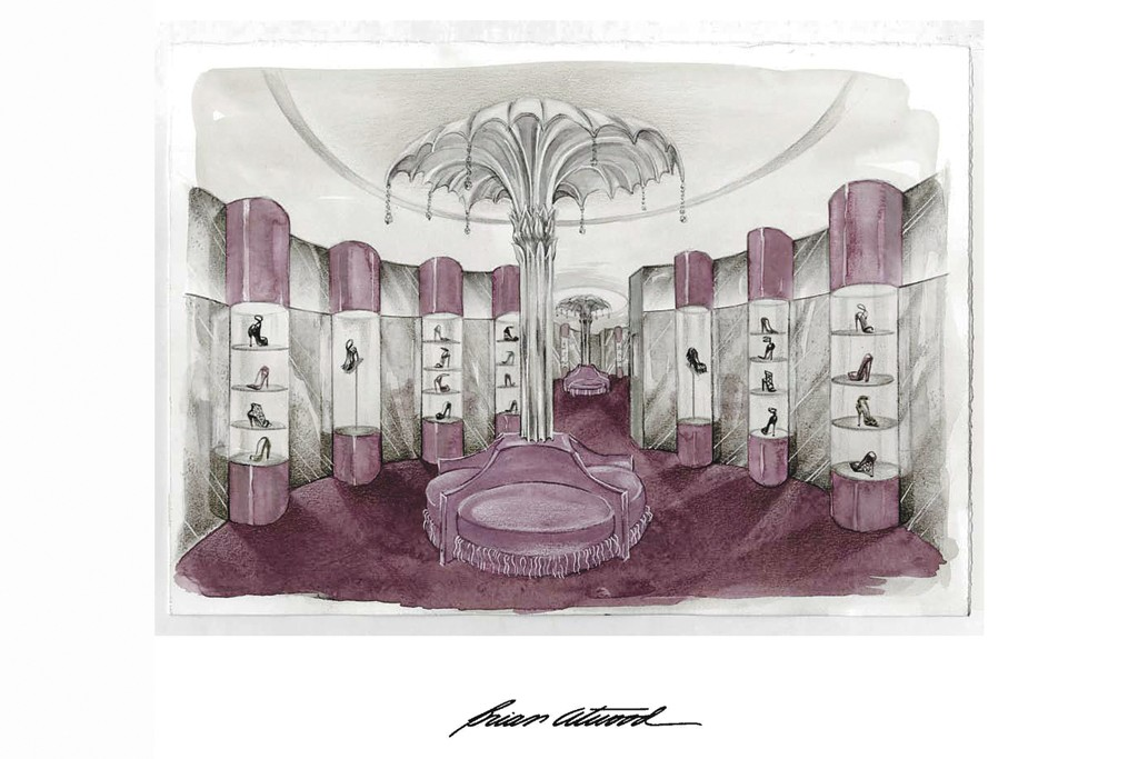 A rendering of Brian Atwood's Madison Avenue shop.