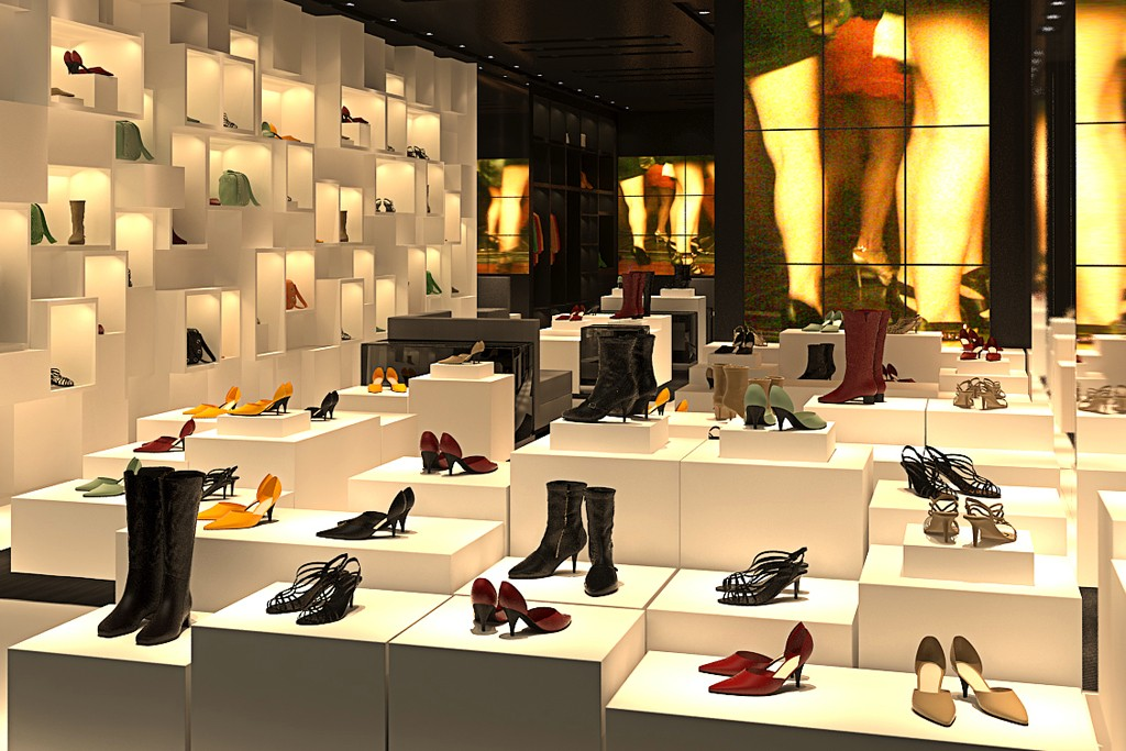 A rendering of Schutz's Madison Avenue store.