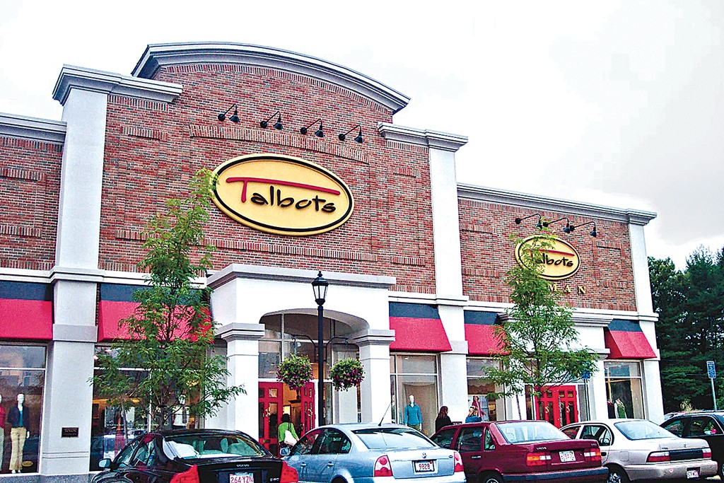 Outside the Talbots store.