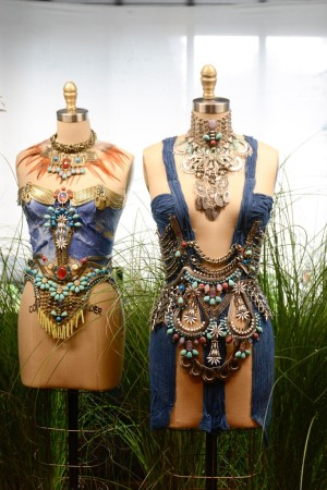 """On Thursday, Dannijo design sisters Danielle and Jodie Snyder festooned their mannequins — which they affectionately called """"fembots"""" — with stellar tribal jewelry from their Peaceful Warriors + Trippy Hippies presentation."""
