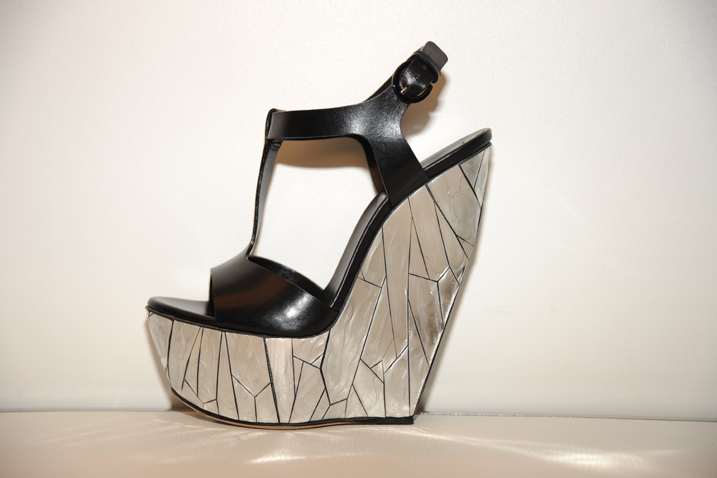 A wedge from Casadei's spring 2013 collection.