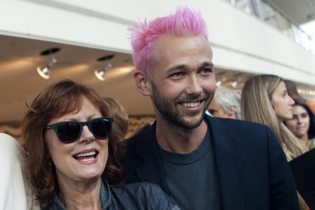 Susan Sarandon and Chris Benz