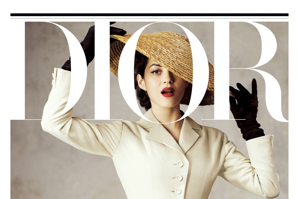 Marion Cotillard on the cover of the first issue of Dior magazine.