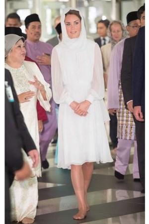 The Duchess of Cambridge at the Assyakirin Mosque.