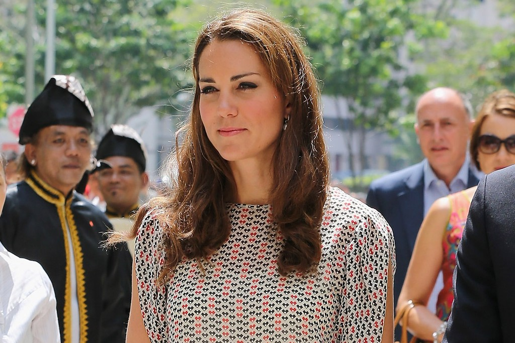 The Duchess of Cambridge wearing Raoul in Singapore.