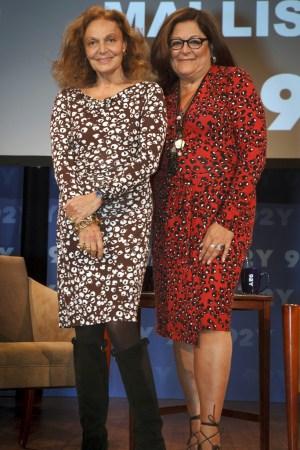 Diane von Fustenberg and Fern Mallis