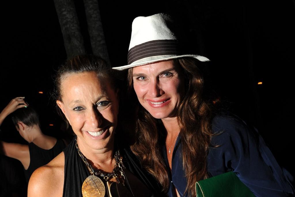Donna Karan and Brooke Shields