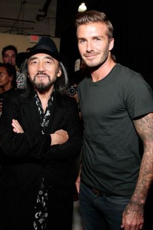 Yohji Yamamoto and David Beckham