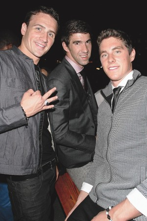 Ryan Lochte, Michael Phelps and Conor Dwyer.