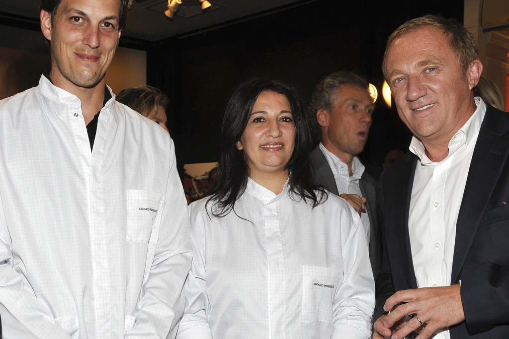 François-Henri Pinault with young watchmakers