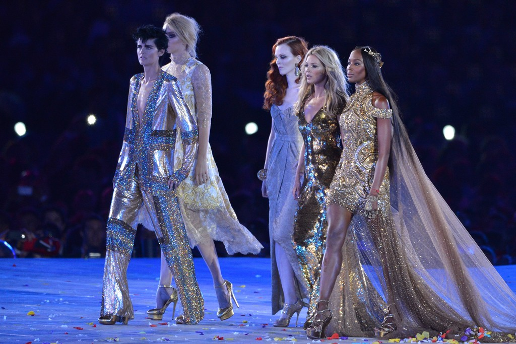 British designs at the Olympic closing ceremonies.