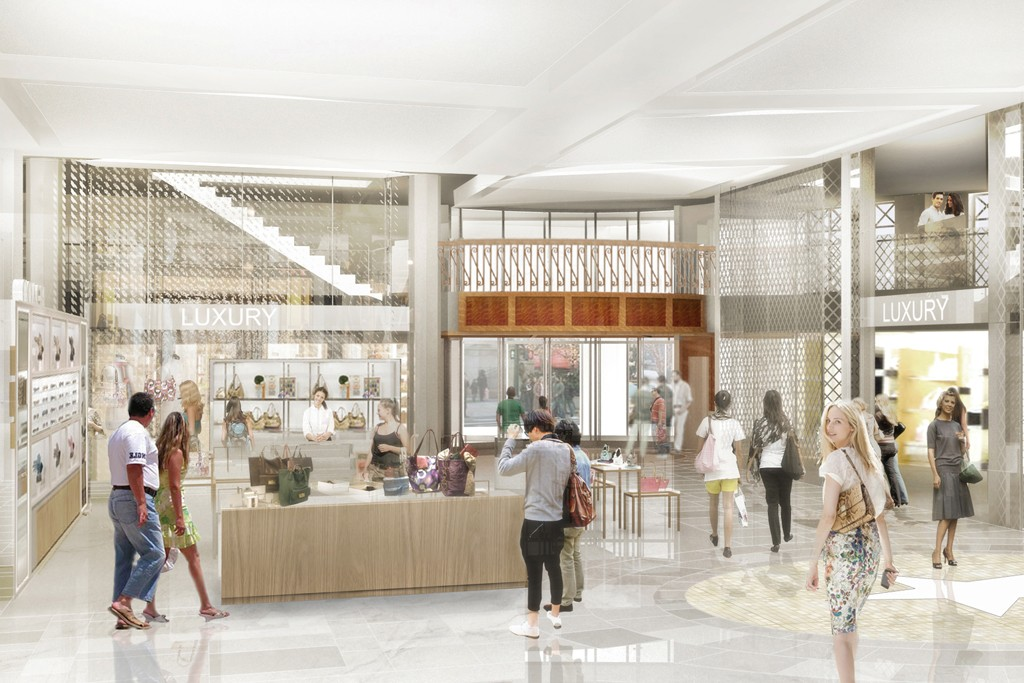 A rendering of the Macy's luxury hall on the 35th Street side of the flagship.