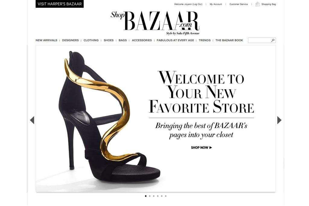 The ShopBazaar site.
