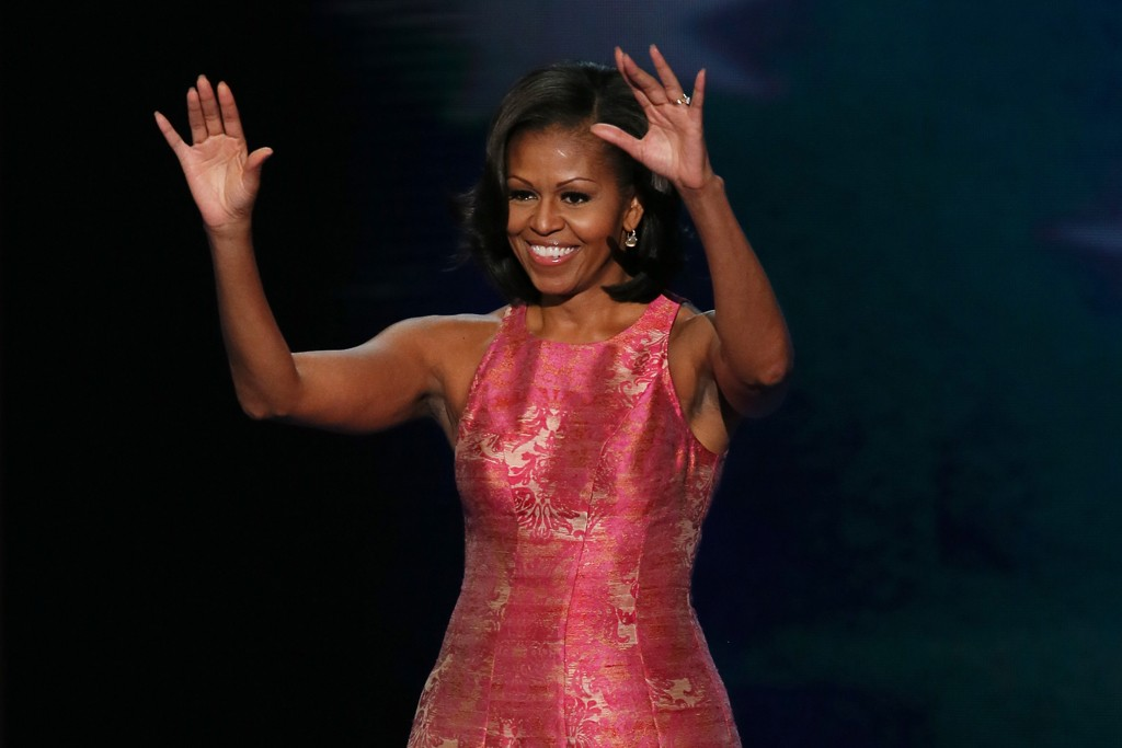 Michelle Obama wore Tracy Reese to give her speech at the Democratic National Convention.