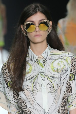 The future is bright at Roberto Cavalli with these highly reflective and embellished shades.