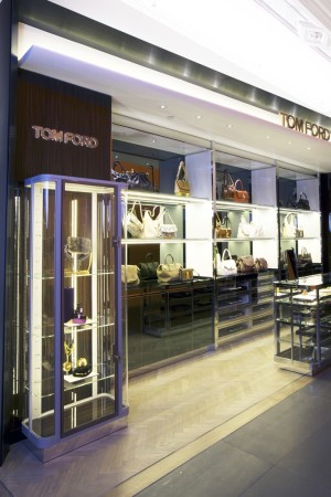 The Tom Ford accessories boutique at Harrods.