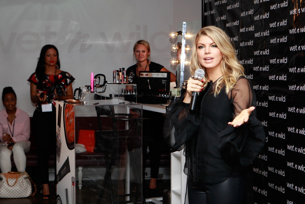 Fergie at her Wet n Wild launch party.