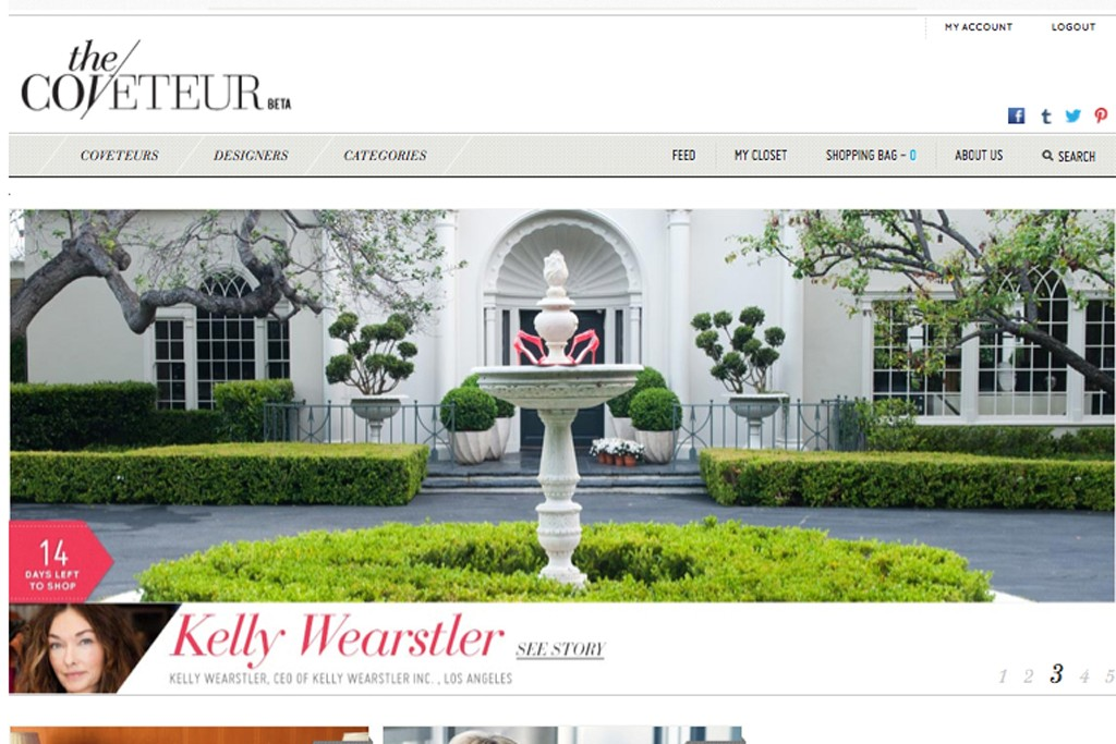 A view of The Coveteur's Web site.