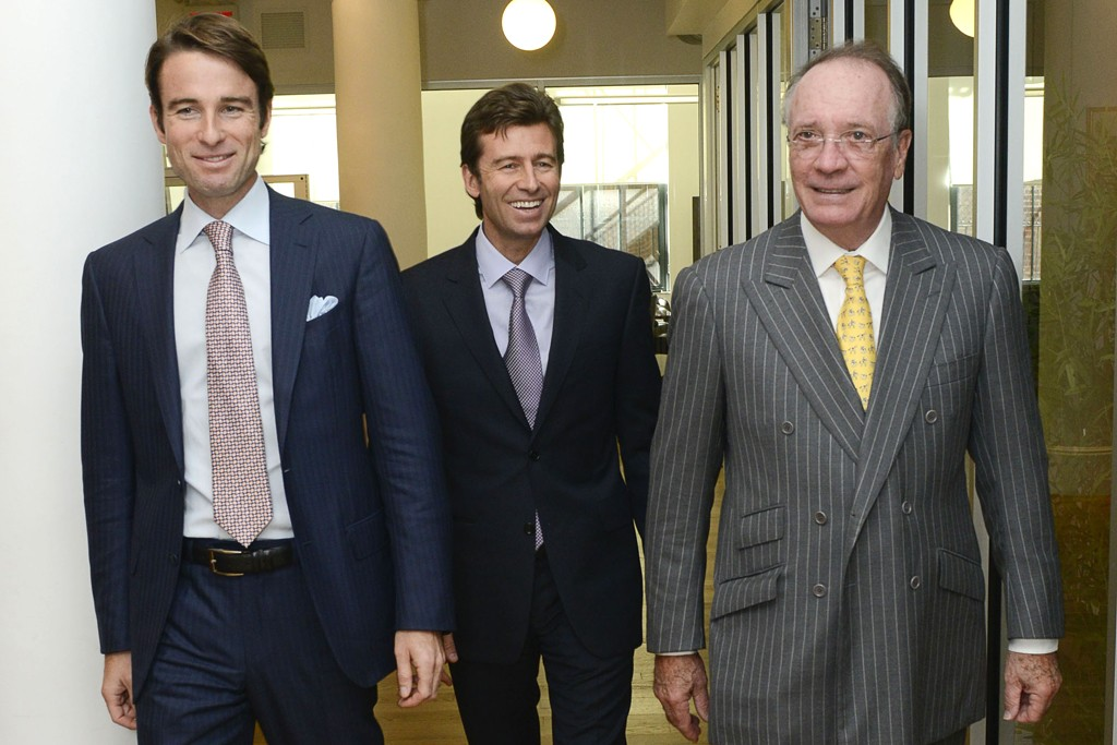 FROM LEFT: Thomas Saujet, Emmanuel Saujet and Olivier Creed.