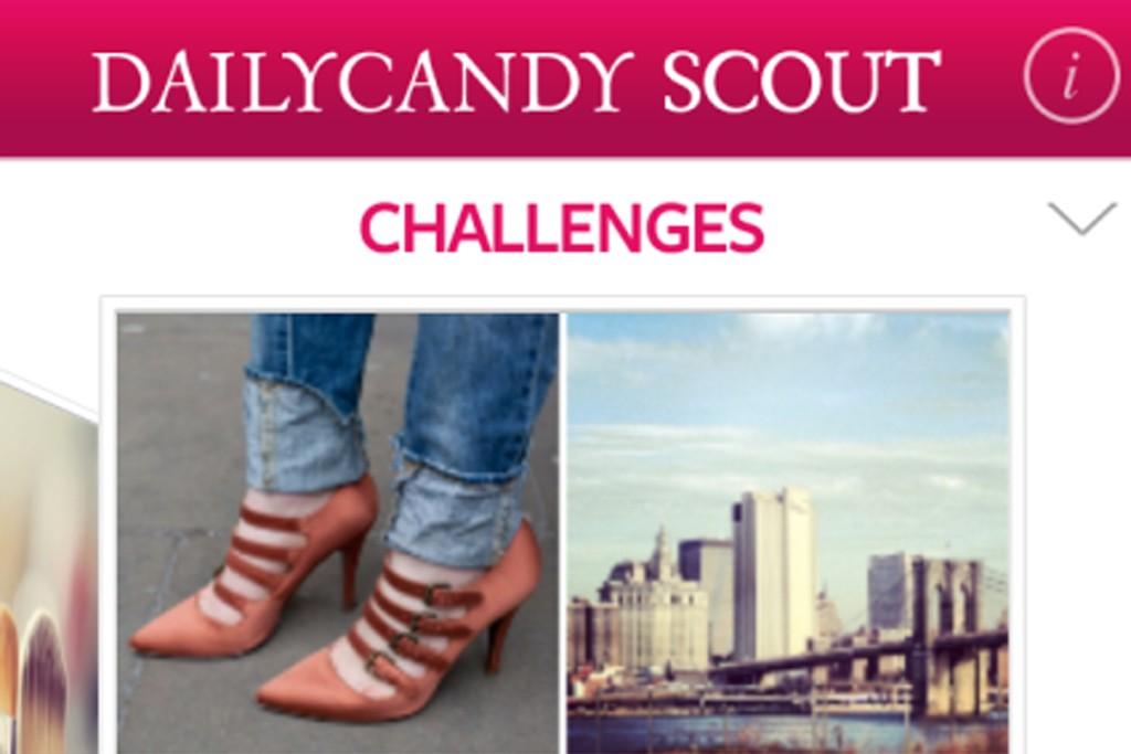 DailyCandy's mobile app, DailyCandy Scout.