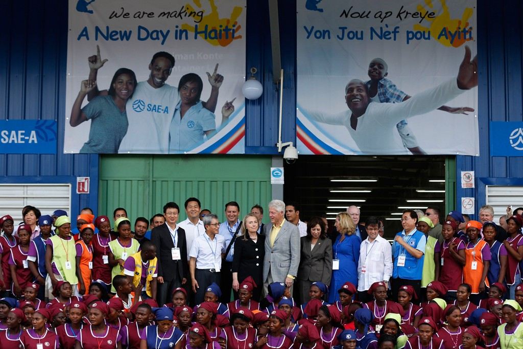 Hillary and Bill Clinton helped to dedicate the opening of the Caracol Industrial Park.