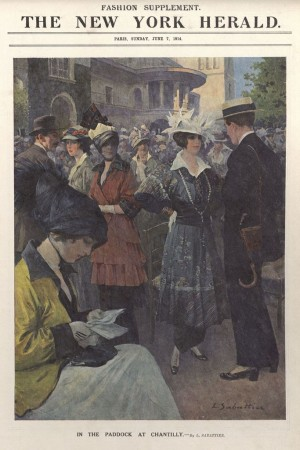 A 1914 cover of The New York Herald, a predecessor of the International Herald Tribune.