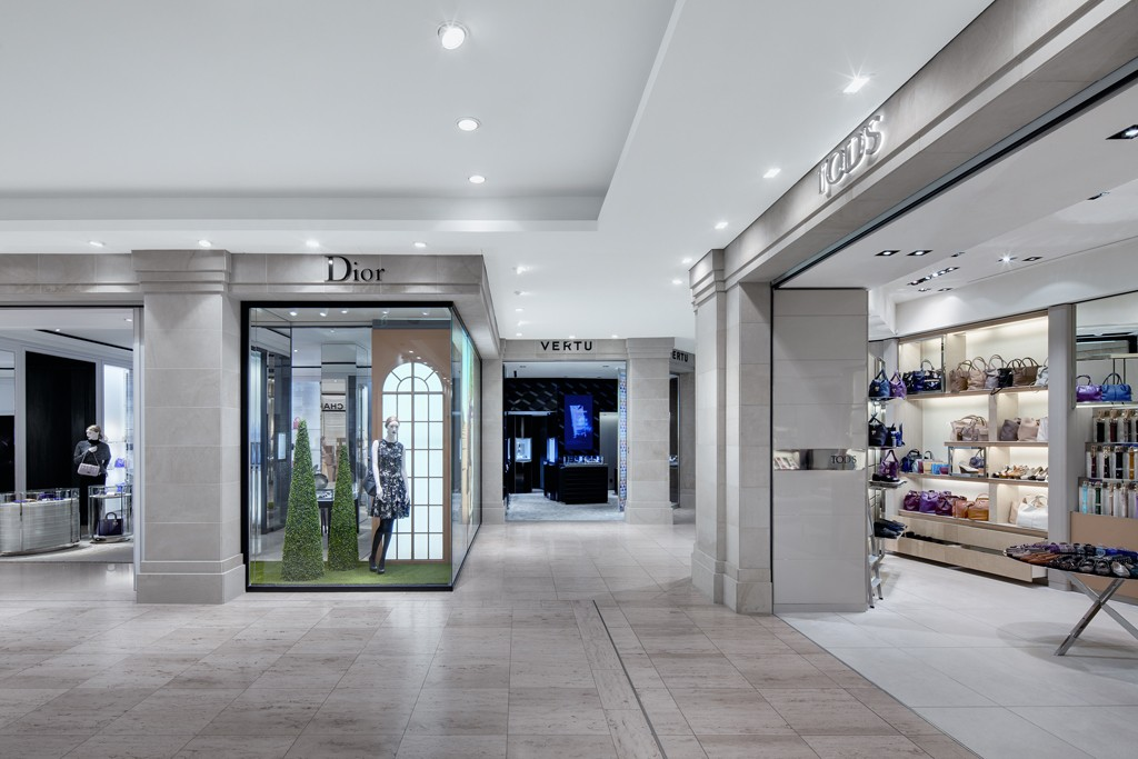 A view of stores at KaDeWe's Luxury Boulevard.