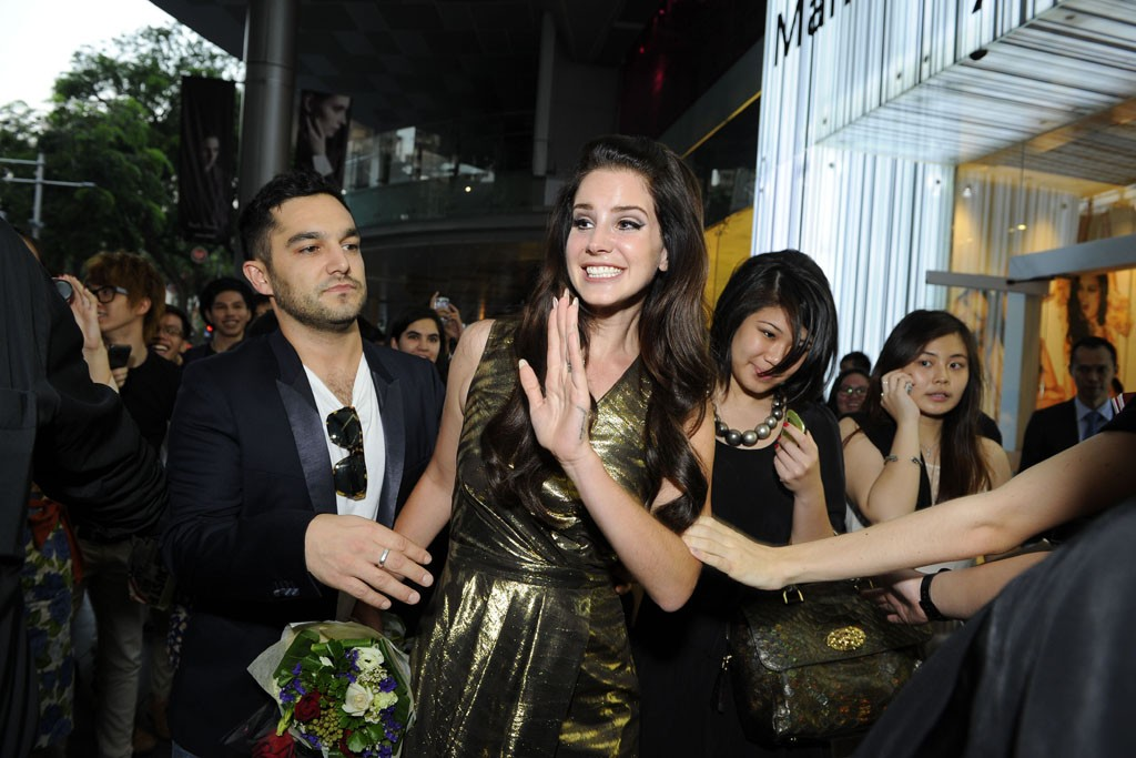 Lana Del Rey arriving to the opening of the Mulberry flagship in Singapore.