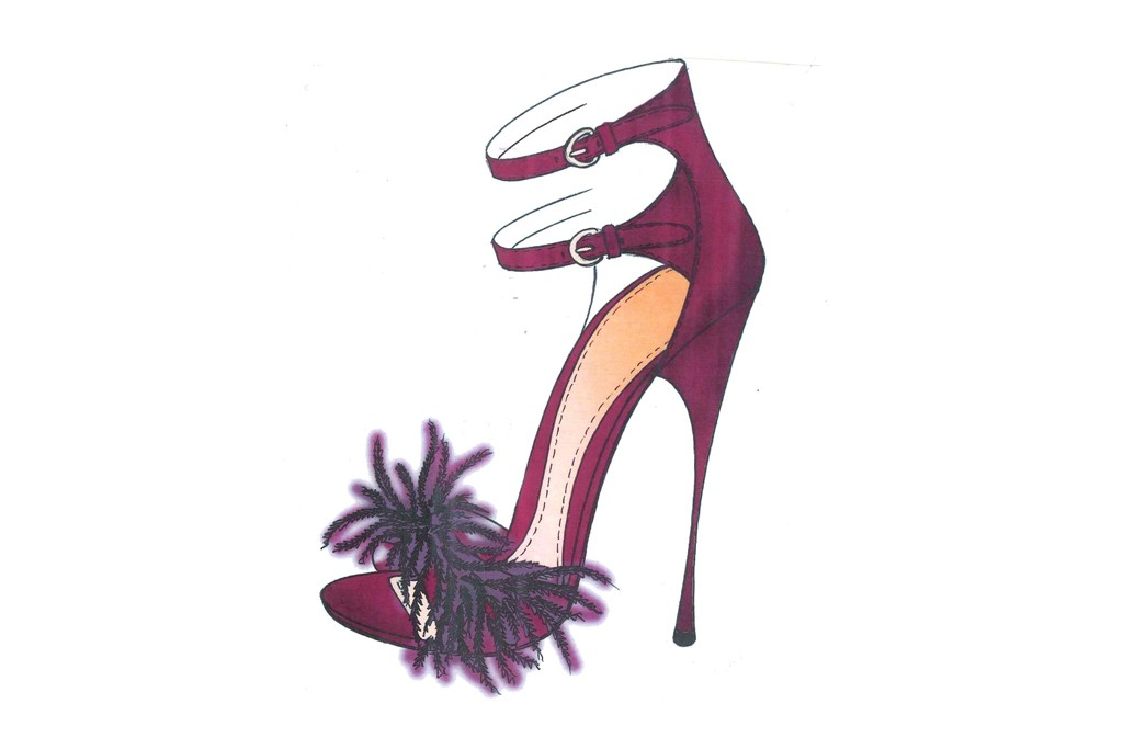 A sketch from the Kirna Zabête at Nine West Collection.