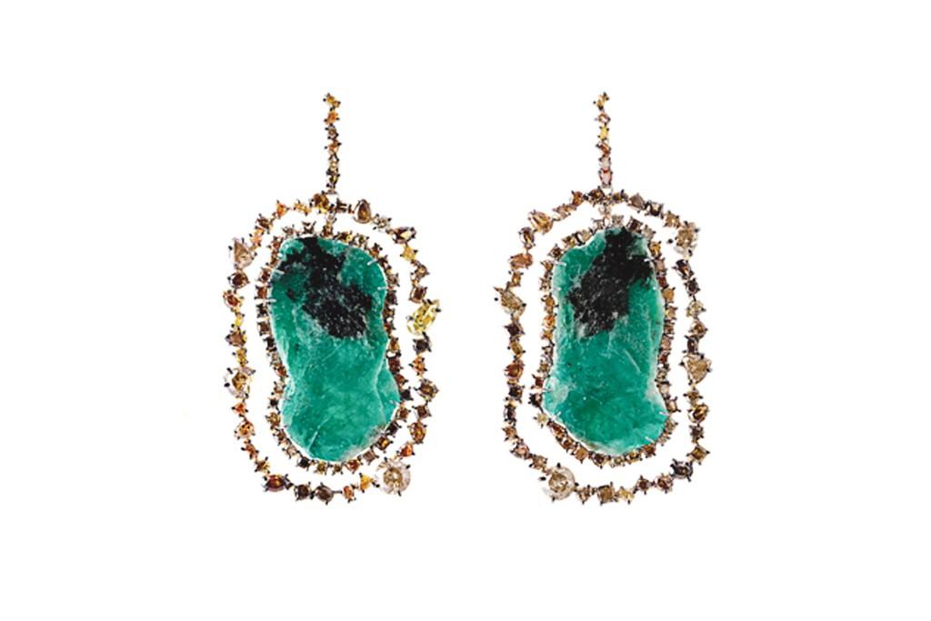 Kimberly McDonald earrings made with Gemfields emeralds.