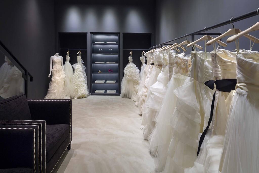 Vera Wang's bridal store in Hong Kong.