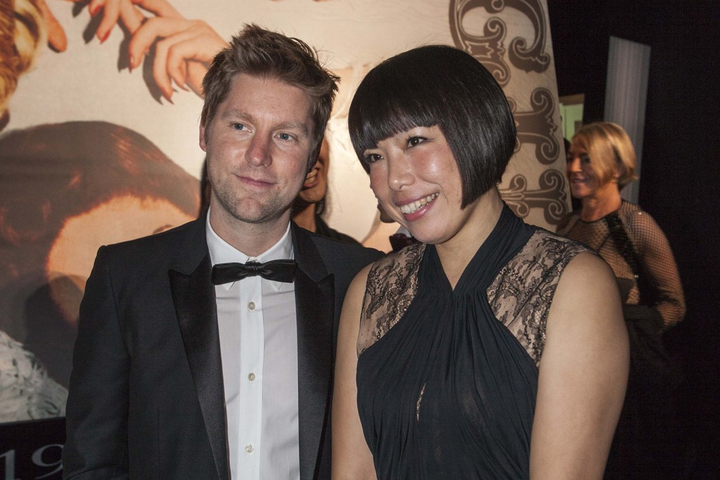 Christopher Bailey with Angelica Cheung in Jason Wu.