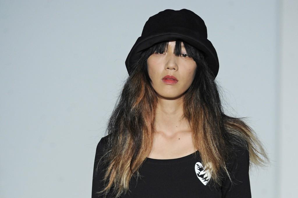 Yohji Yamamoto's niece Lico modeled in the show