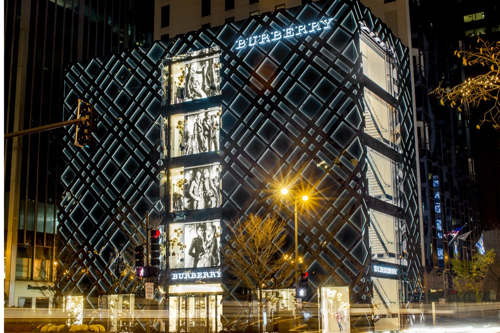 A view of the Burberry flagship in Chicago.