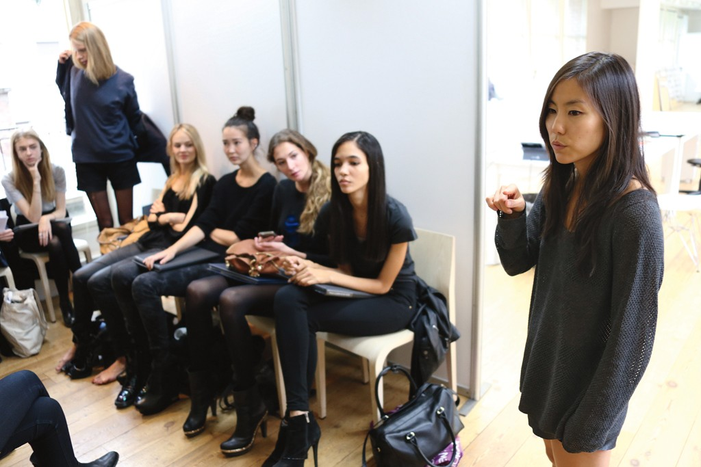 Michelle Lee at the Chloé casting.