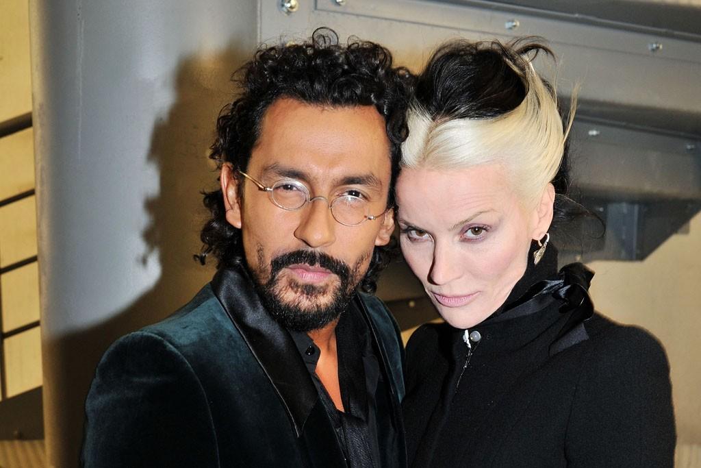 Haider Ackermann and Daphne Guinness