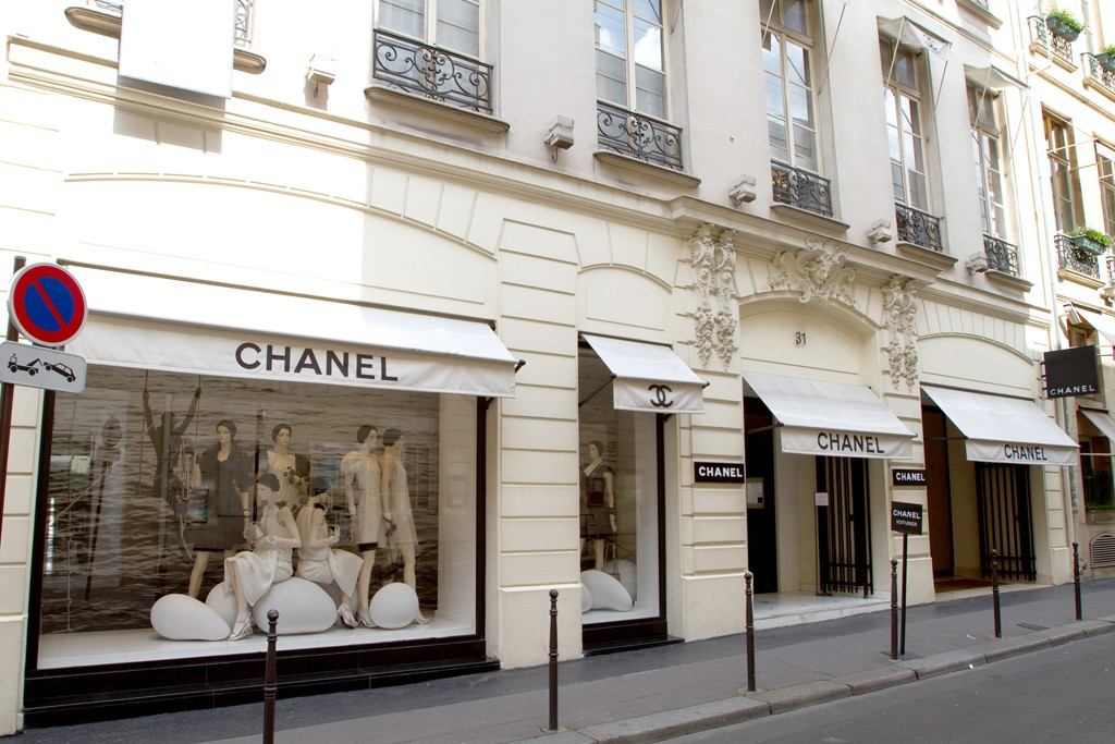 Chanel's Rue Cambon store in Paris.