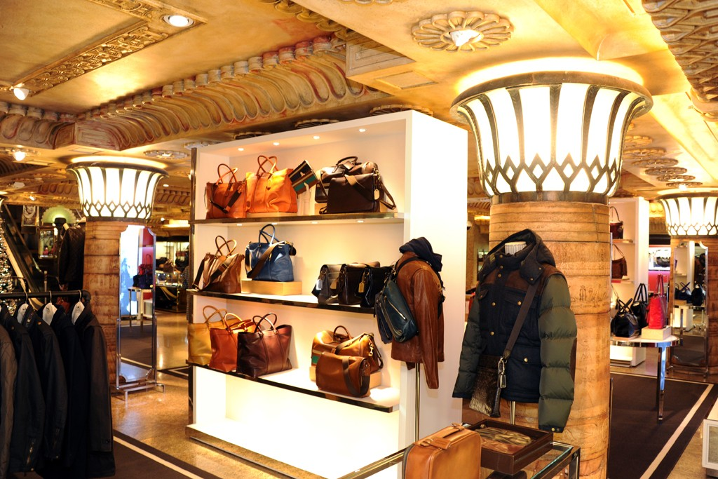 The Coach shop-in-shop at Harrods in London.