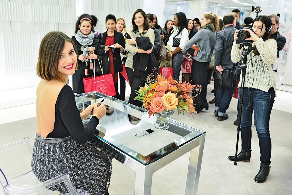Margherita Missoni meets her fans at the Bloor Street flagship.