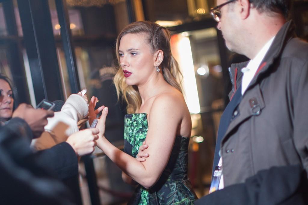Scarlett Johansson in Rodarte and Gucci shoes.