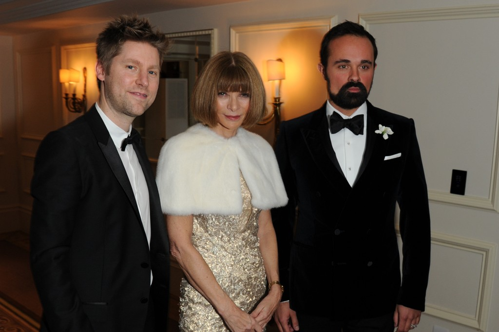 Christopher Bailey, Anna Wintour and Evgeny Lebedev.