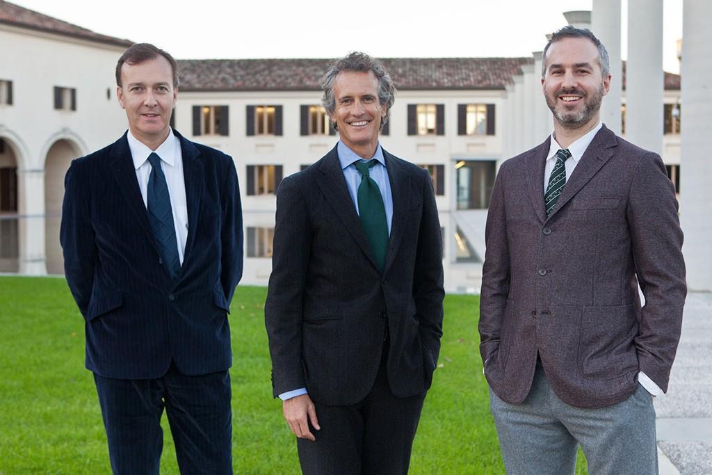 Paul Thompson, Alessandro Benetton and Dan Hill.