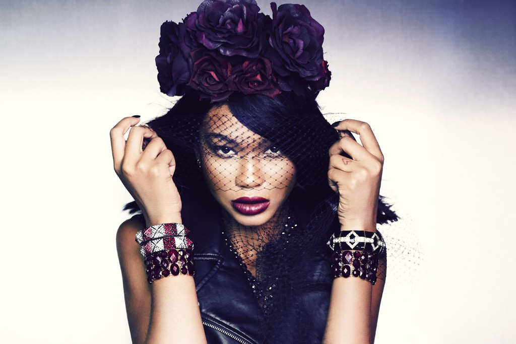 A visual from Forever 21's holiday campaign featuring Chanel Iman.