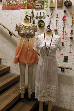 The interior of a Free People store.