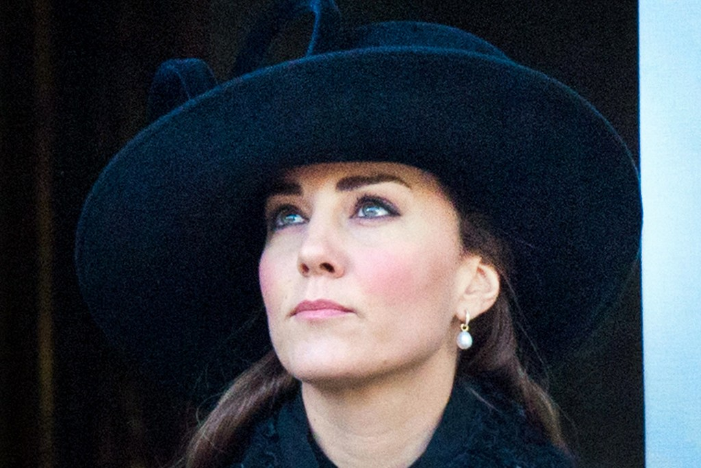 The Duchess of Cambridge at the Remembrance Sunday ceremony.
